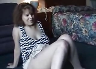Kinky MILF zoophile likes her doggy