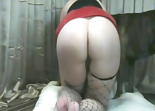 Big beast with a hard dick fucked her twat