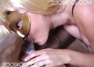 Busty doll opens her twat for a big dick